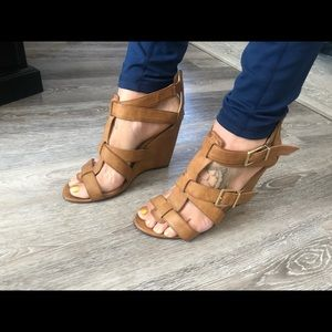 Strappy wedges from Express